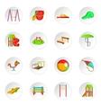 Children playground icons set cartoon style vector image
