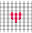 Square with grey circles and red heart vector image