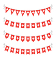 switzerland bunting vector image