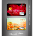 template credit cards with flower themes vector image