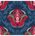 Blue and red indian seamless pattern vector image