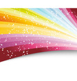 rainbow colorful advertisement vector image vector image