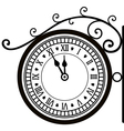Retro street clock vector image