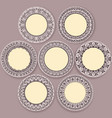 circular floral ornament template for tattoo vector image