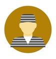 Criminal avatar flat icon vector image