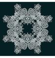 decorative snowflake vector image