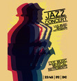 jazz blues music concert poster background vector image
