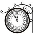 Retro street clock vector image
