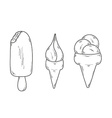 sketch of the ice cream vector image