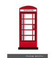 telephone booth vector image