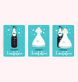 turquoise wedding invitation card marriage vector image