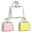 Womens handbag for shopping eps10 vector image