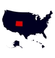 Colorado State in the United States map vector image