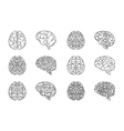 outline human brain icons vector image