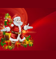 santa and presents background vector image