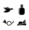 hunt simple related icons vector image