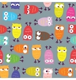 Owl seamless pattern vector image vector image