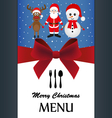 Christmas menu vector image
