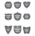 Shields set elements for design vector image