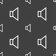 volume sound icon sign Seamless pattern on a gray vector image