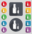 NAIL POLISH BOTTLE icon sign A set of 12 colored vector image