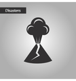 black and white style volcano erupting vector image