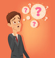 confused office worker man thinking vector image
