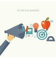 Distance educationlearning Online courses and vector image