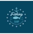 Fishing Camp Logo vector image