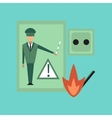 flat icon on stylish background safety lessons vector image