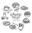 food breakfast menu flyer vector image