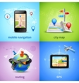 Navigation Concept Set vector image