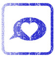 love message balloon framed textured icon vector image