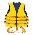 yellow life jacket vector image
