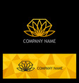 gold lotus flower logo vector image