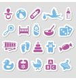 baby stickers vector image