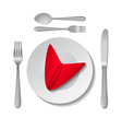 Plate and cutlery vector image
