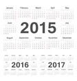 circle calendars 2015 2016 2017 vector image