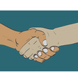 Sketch of two shaking hands vector image vector image