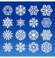 Big Snowflakes set for winter and christmas theme vector image