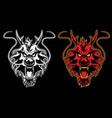 Dragon head symbol vector image