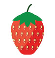 flat design icon of strawberry in ui colors vector image