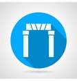 Flat icon for arch entrance vector image