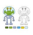 Funny cartoon alien in spacesuit vector image