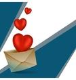 hearts with dewelop vector image