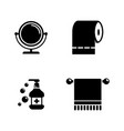 hygiene fight simple related icons vector image