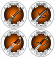 icons pirate swords vector image