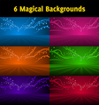 magic background set vector image