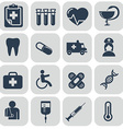 Medical Icons set on grey background vector image