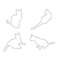 paths of Cats set on the white background vector image